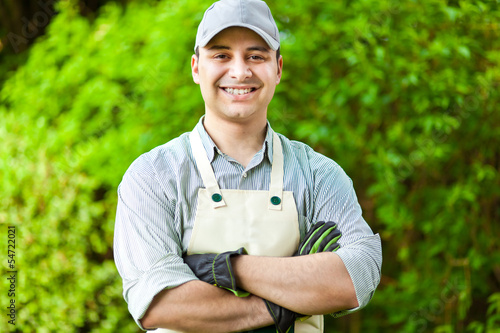 Foto Smiling gardener
