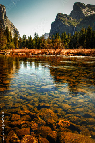 River in Yosemite Valley Poster