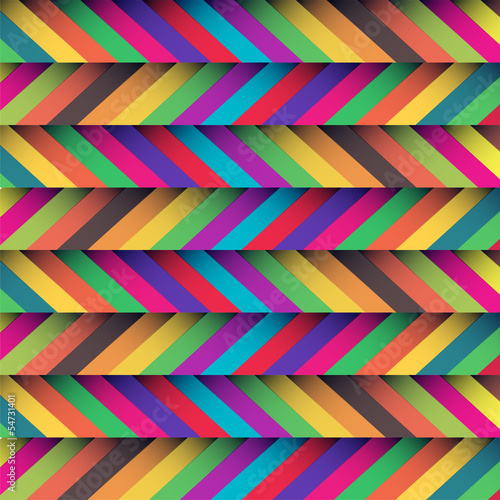 Poster ZigZag beautiful zig zag patterned background with soft retro colors