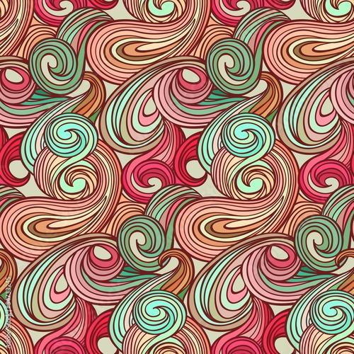 Fototapeta na wymiar Seamless abstract curly wave pattern