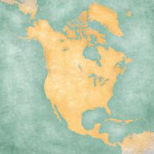 Map Of North America – Blank Map (Vintage Series)
