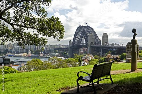 Sydney, Dawes Point, Skyline; Harbour Bridge