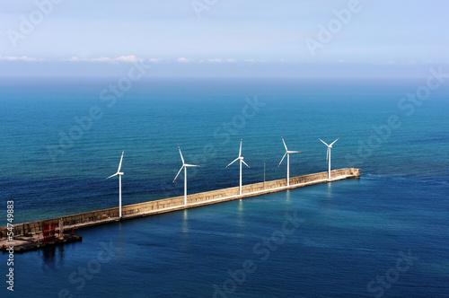 Poster Molens windfarm on the sea