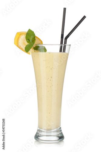 Foto op Aluminium Milkshake Banana milk smoothie