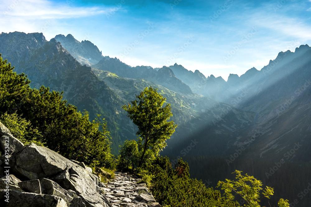 Fototapety, obrazy: Morning in High Tatras, Slovakia