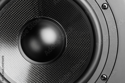 Photo  loudspeaker, closeup view