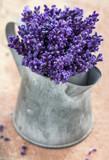 Closeup of purple lavender bouquet