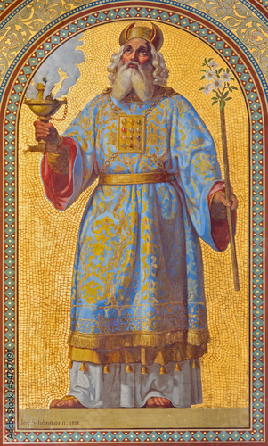 Canvas-taulu Vienna - Fresco of high priest Aron in Altlerchenfelder church