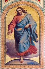 Fototapeta Vienna - Fresco of Jesus Christ as seedsman