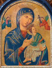 Fototapeta Do kościoła Vienna - Madonna paint from church Maria Treu