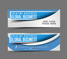 Set Of Business Banner, Header...