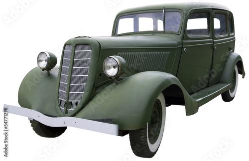 Fotografia  old Army green car