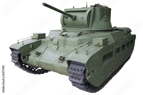 Photo  old infantry medium tank