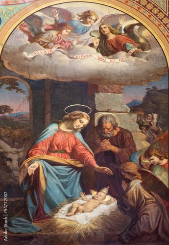 Photo  Vienna - Fresco of Nativity in Altlerchenfelder church