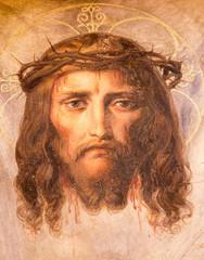 Fototapeta Do kościoła Vienna - Fresco of Jesus Christ in Altlerchenfelder church