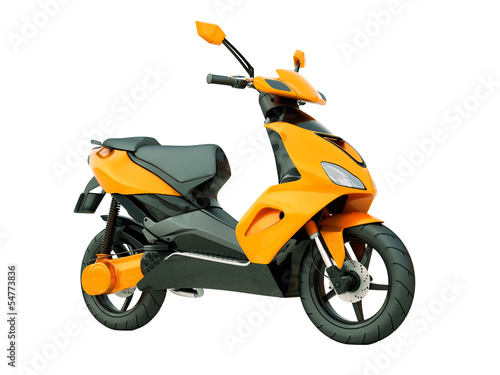 Photo Modern scooter isolated