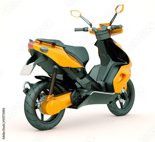 Poster Motocyclette Modern scooter
