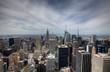 New York City skyline with urban skyscrapers