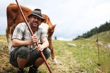 Mann In Den Alpen