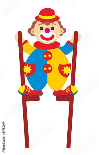 Fotografia, Obraz  clown on stilts