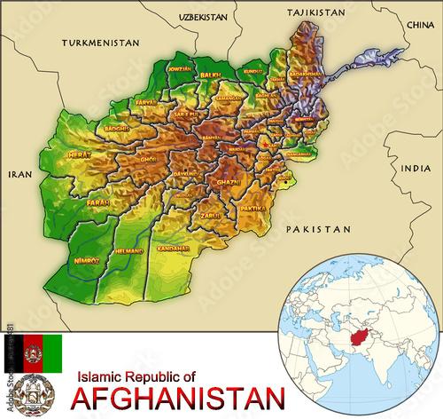 Afghanistan Asia national emblem map symbol location ...