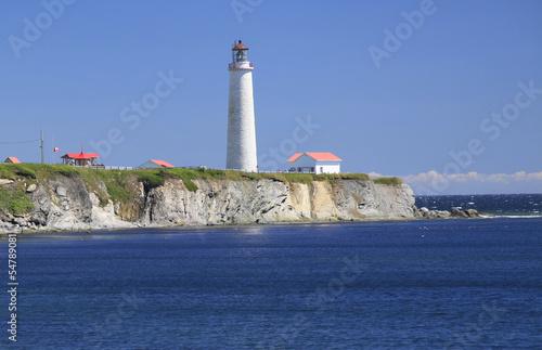 Spoed Foto op Canvas Vuurtoren Cap des Rosiers Lighthouse, Gaspesie, Quebec, Canada