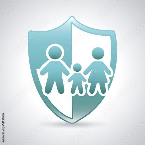Vászonkép  family shield