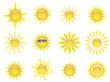 Sun icons set. Vector