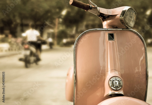 Tuinposter Scooter moped