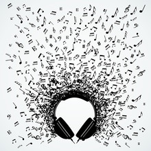 Music Notes From Headphones Is...