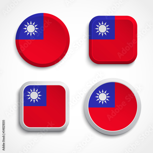 Republic China flag buttons - Buy this stock vector and