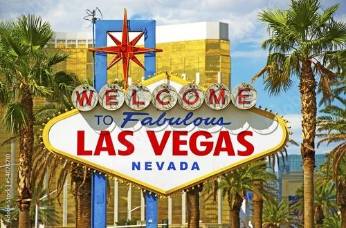 Leinwand Poster  Fabulous Vegas Sign