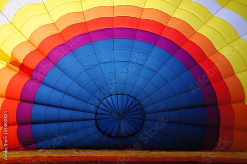 In de dag Ballon Gonflement d'une montgolfière