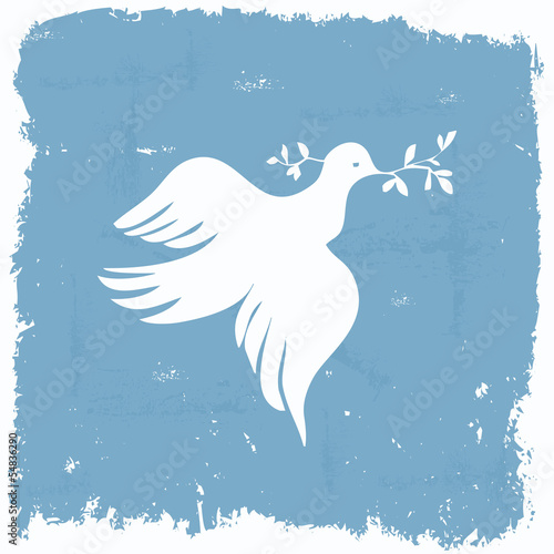 Peace dove wallpaper in grunge frame - Buy this stock