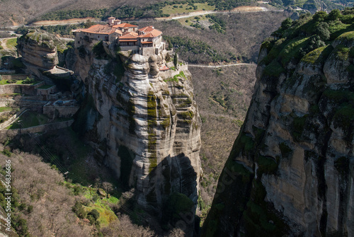Fotografie, Obraz  Meteora cliffs and the Holy Monastery of Varlaam in Greece