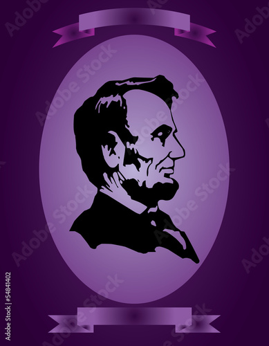 Fotografia  Abraham Lincoln abstraction