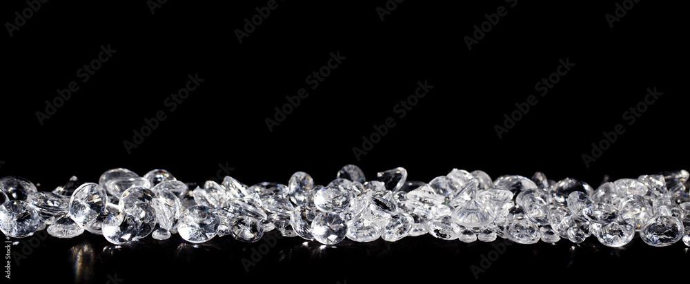 Fototapeta Diamonds on black background