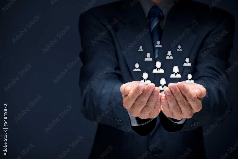 Fototapeta Customer or employees care concept