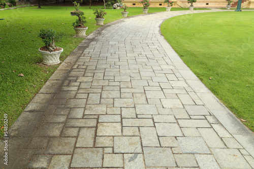 Photo stone walkway