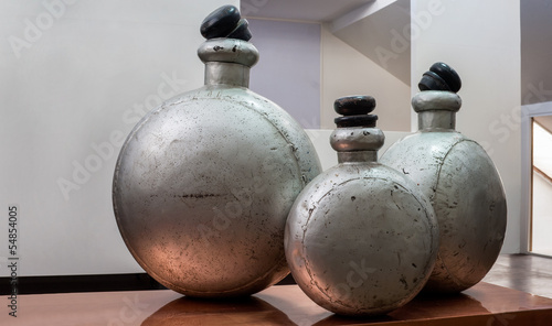 Photo showroom interior antique alumina perfume bottle