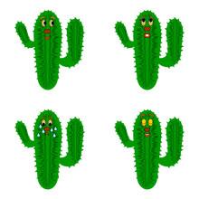 Funny Cartoon Cacti