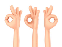 3d Render Of A Hand Showing Ok Sign