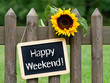 canvas print picture - Happy Weekend