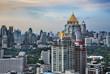 Urban City Skyline,Sathorn Rd.(Bangkok's CBD),Thailand