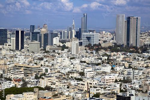 Fotobehang Midden Oosten Downtown Tel-Aviv Skyline