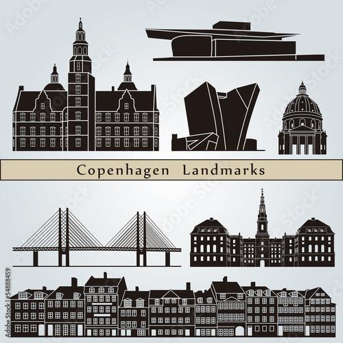 Garden Poster Brown Copenhagen landmarks and monuments
