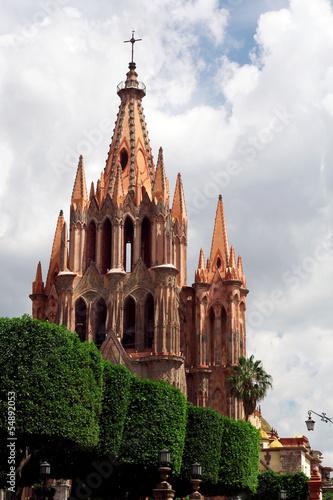 Fototapeta premium Katedra św. Michała - San Miguel de Allende, Meksyk