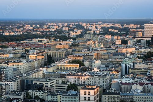 Panorama of Warsaw city, Poland #54893030