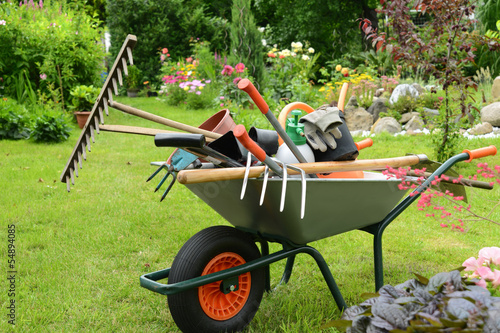 Foto op Canvas Tuin Garten 78