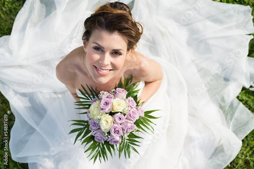 Fotografie, Obraz  Portrait Of Beautiful Bride